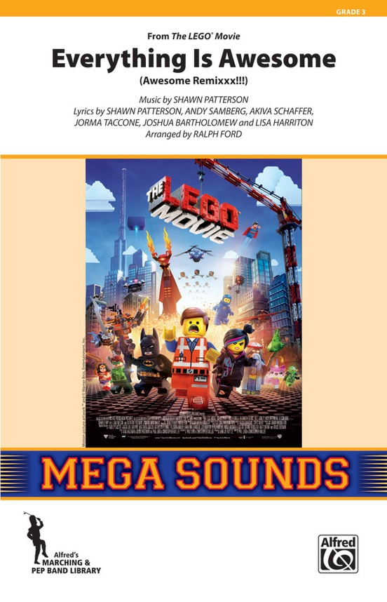 Musiknoten Everything Is Awesome (from The LEGO® Movie), Shawn Patterson/Ralph Ford