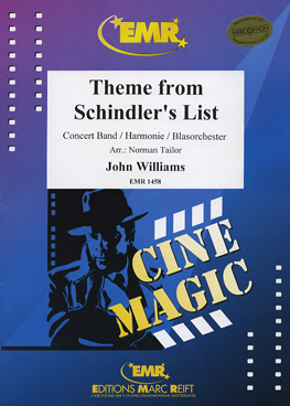 Musiknoten Theme From Schindler´s List, Williams/Tailor