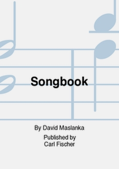Musiknoten Songbook For Flute and Wind Ensemble, David Maslanka -nur Full score (large)