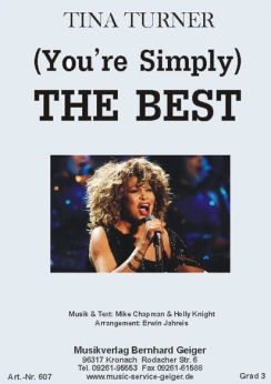 Musiknoten The Best, Tina Turner/Erwin Jahreis